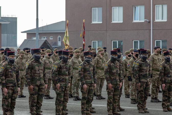 В Тапа состоялась ротация боевой группы союзников НАТО