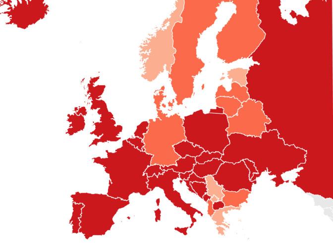 Коронавирус в Европе: число случаев заражения снизилось в Эстонии, Испании и Дании