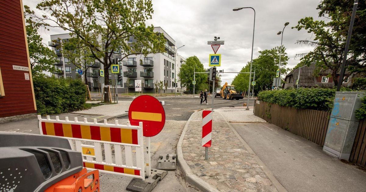 В Таллинне временно закрываются улица Алеви и одна сторона Пярнуского шоссе