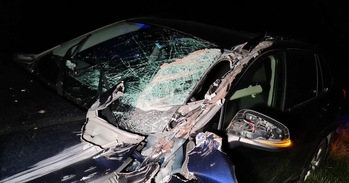 Пьяный тракторист протаранил автомобиль